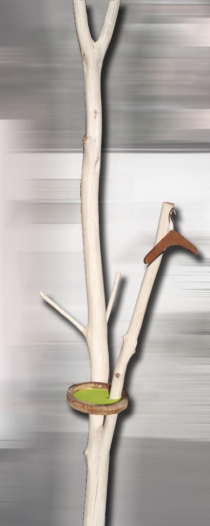 Garderobe Baum Naturholz